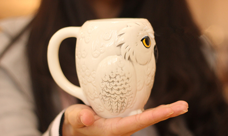 Ins Cute Owl Mugs 3D Animal Cups Ceramic Milk Mug Home Decor Coffee Cups Breakfast Office Porcelain Cup Drop Shipping
