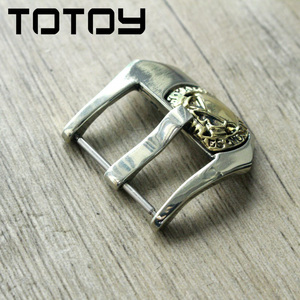Image 2 - TOTOY White Copper Inlay Brass Buckle, 20MM 22MM 24MM High Quality Leather Strap Buckle,Vintage Buckle,Fast Delivery