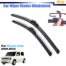 Vehicle Windscreen Windshield Car Soft Rubber Wiper Blades Bracketless 2Pcs For 2009-2014 Cube