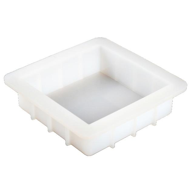 Molde cuadrado de silicona para jabón hecho a mano, molde de jabón de pan blanco, herramientas de fabricación de jabón