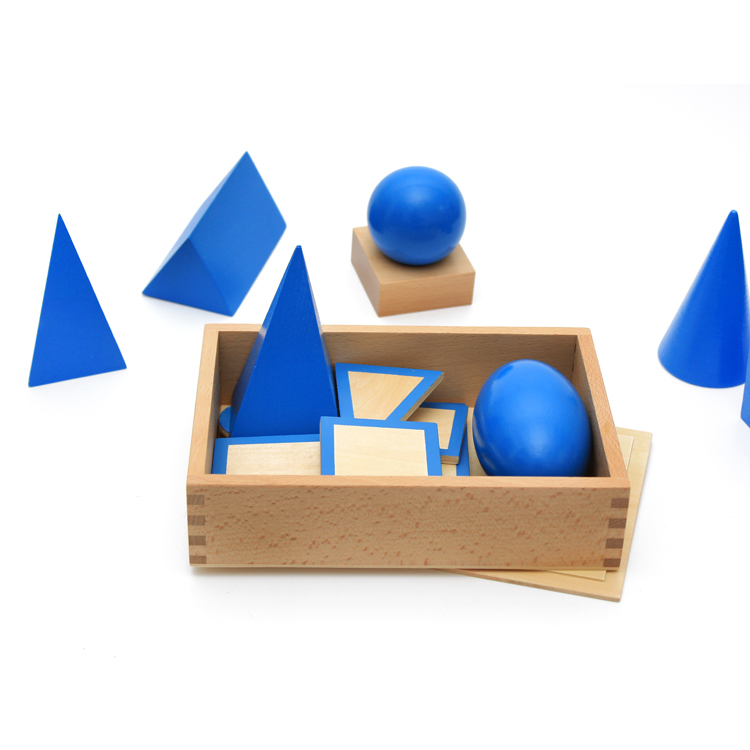 Baby Toys Wooden Geometry Set Three-dimensional Geometric Solids Early Learning Montessori Blocks Wooden Toys Educational Gift montessori baby toys multicolor wooden stick digital blocks education wooden toys early learning