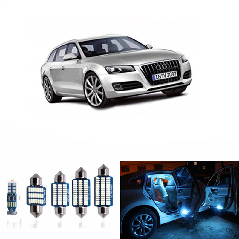 12pc CANBUS Car LED Light Bulbs Interior Package Kit For 2012-2014 Audi A6 C7 Dome Glove Box Trunk License plate Lamp White carprie super drop ship new 2 x canbus error free white t10 5 smd 5050 w5w 194 16 interior led bulbs mar713