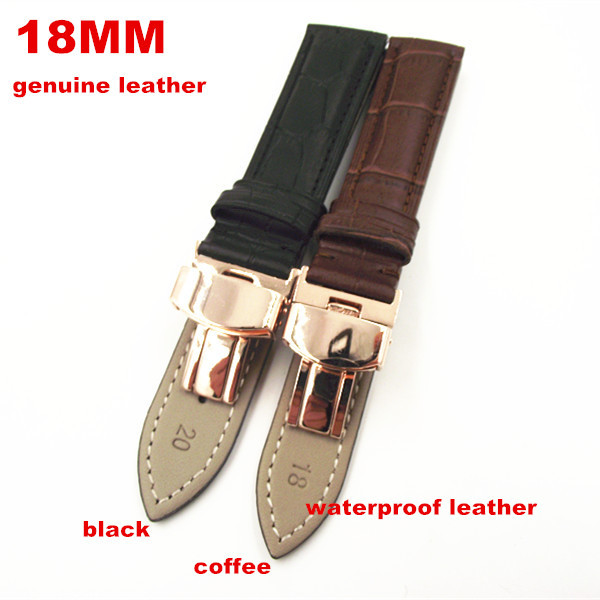 18MM 20MM 22MM 1PCS genuine cow leather watch band watch straps waterproof leather men and woman