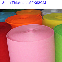 2016 Newest 3mm Thickness Solid Felt Polyster Nonwoven Fabric For Handmade DIY 90 92cm
