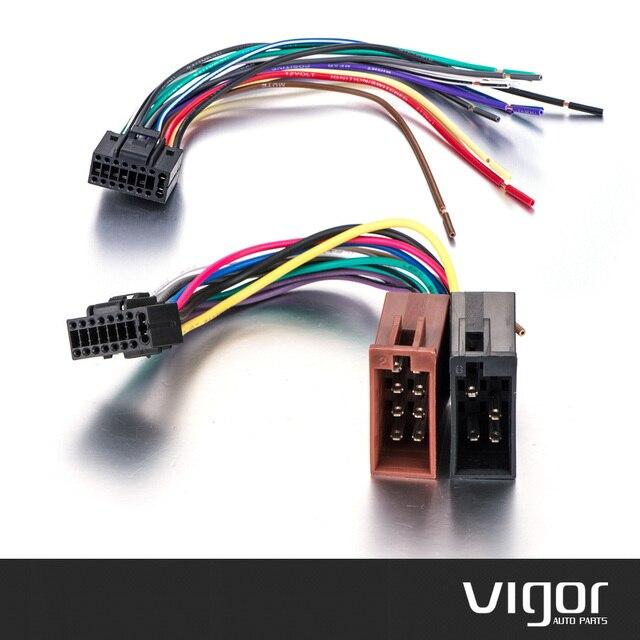 Auto Stereo Radio ISO standard Kabelbaumstecker Draht Adapter ...