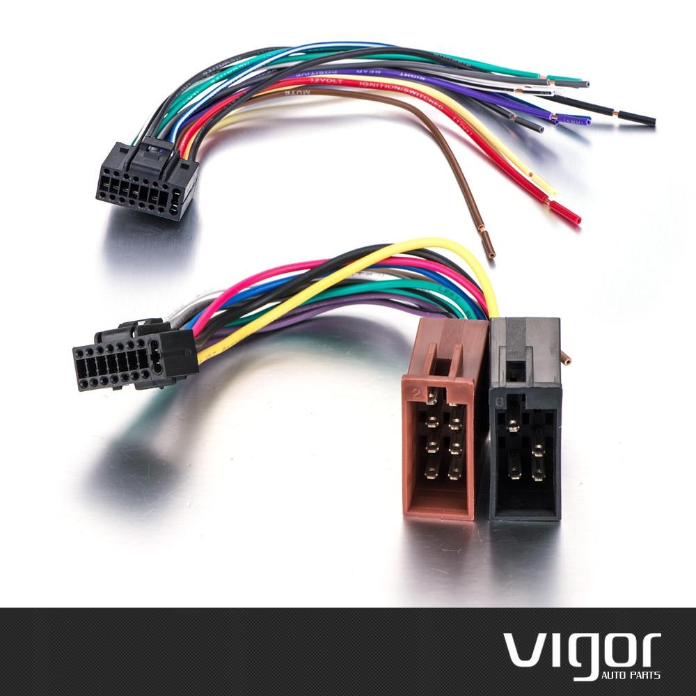 small resolution of sony mdx series car radio stereo 16 pin wiring harness panasonic cq c7105u stereo wiring radio samochodowe stereo iso standardowe z cze wi zki
