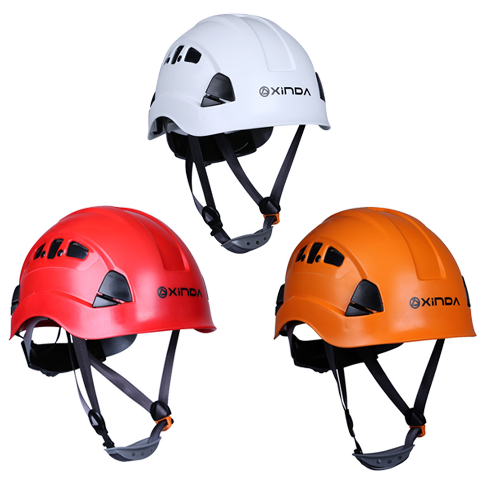 Professional Mountaineer Rock Climbing Safety Helmet Work Rescue Caving Mountaineering Rappelling Gear Equipment