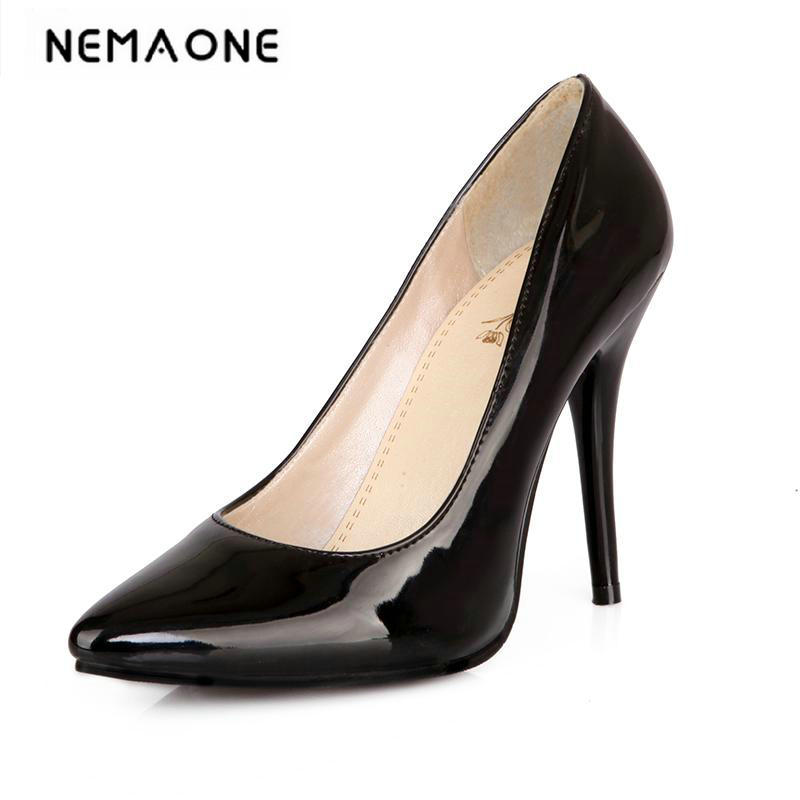 size 33-44 2018 New Woman High Heels Women Pumps Stiletto Thin Heel Women's Shoes Nude Pointed Toe High Heels Wedding Shoes new sexy thin heel women shoes sexy shallow mouth high heels women pumps woman flower pointed toe stiletto footwear size 34 47