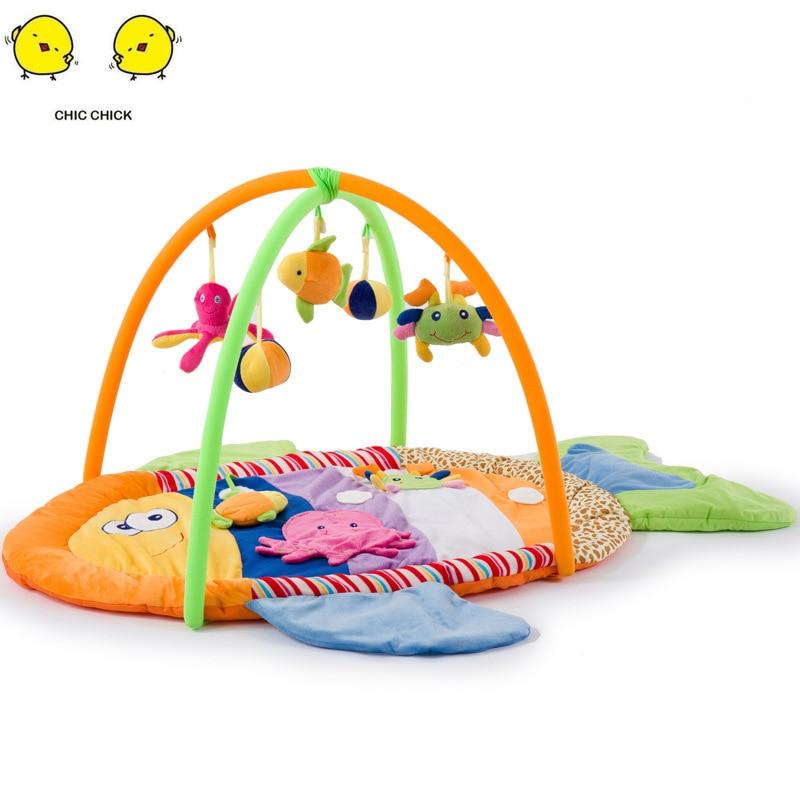 Jeu enfants couverture multicolore poisson bébé jeu tapis ramper couverture bébé musique jouet