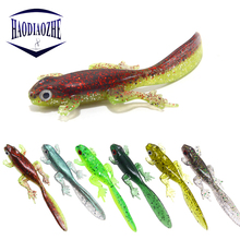 Купить с кэшбэком 3Pcs/lot Soft Fishing Lure 8cm 3.5g Artificial Bait Sea Wobblers Swimbait Bait Carp Shad Manual Bass Soft Bait Swimbaits Pesca