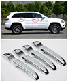 For Jeep Grand Cherokee 2011 - 2015 Chrome Door Handle Cover Trims With SMART Key hole style