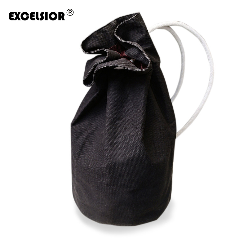 EXCELSIOR 2016 New Large Capacity Women Man Drawstring Backpack Canvas Bucket Bag High Quality One Shoulder Concise Bags G0802 large capacity man travel bag mountaineering backpack men bags canvas bucket shoulder bag 012