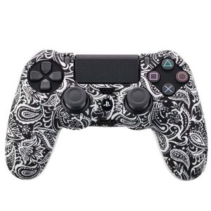 Image 4 - Camouflage Case Graffiti Studded Dots Silicone Rubber Gel Skin for Sony PS4 Slim/Pro Controller Cover Case for Dualshock4