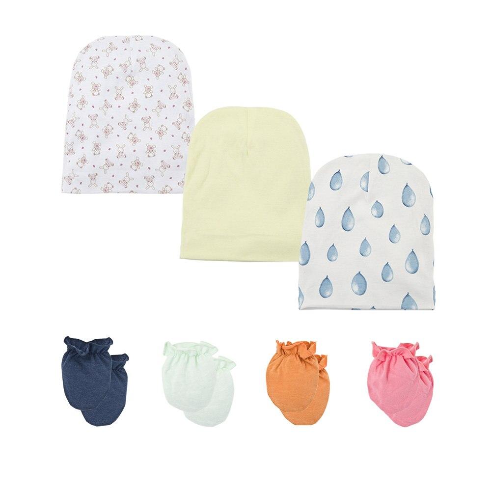 4Pcs Soft Cotton Anti Scratch Mittens Gloves for Newborn Baby Boys Girls  NJA