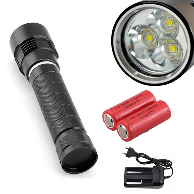 5000 Lumens LED Diving Flashlight Torch 3x CREE XM-L2 Waterproof 100m Underwater Video Lamp + 2x 26650 battery + Charger reza kamyab moghadas optimization of double layer grids