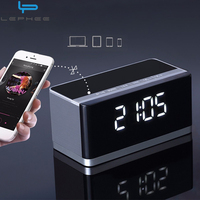 Bluetooth Wireless Speaker With LED Display Clock Alarm FM Radio Support AUX TF Card USB Playing