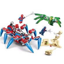 цена 457pcs Marvel Avengers Super Heroes Spiderman Spider Man Vs Venom Mech Building Blocks Brick Toy Compatible With Sermoido онлайн в 2017 году