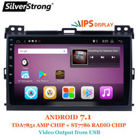SilverStrong Android7.1 9 дюймовый автомобильный gps радио для Toyota Prado 120 Land Cruiser android7.1 ips Prado120 для PIONEER/JBL amp