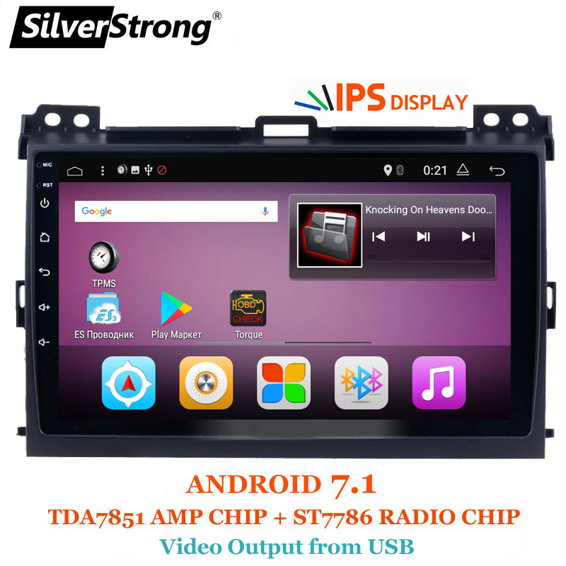 SilverStrong Android7.1 9 pouces Voiture GPS Radio Pour Toyota Prado 120 Land Cruiser android7.1 IPS Prado120 pour PIONEER/JBL amp