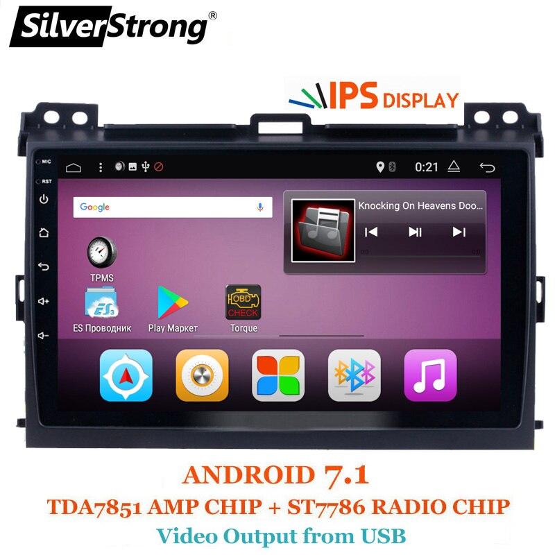 SilverStrong Android7.1 9 pouces Voiture GPS Radio Pour Toyota Prado 120 Land Cruiser android7.1 IPS Prado120 pour PIONEER/JBL amp