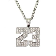 official photos 0a339 b596a BNRESALE Hip Hop Iced Out Volle Strass Legierung Anzahl 23 Jordan Pendent  Halskette Bling Bling Rapper Schmuck