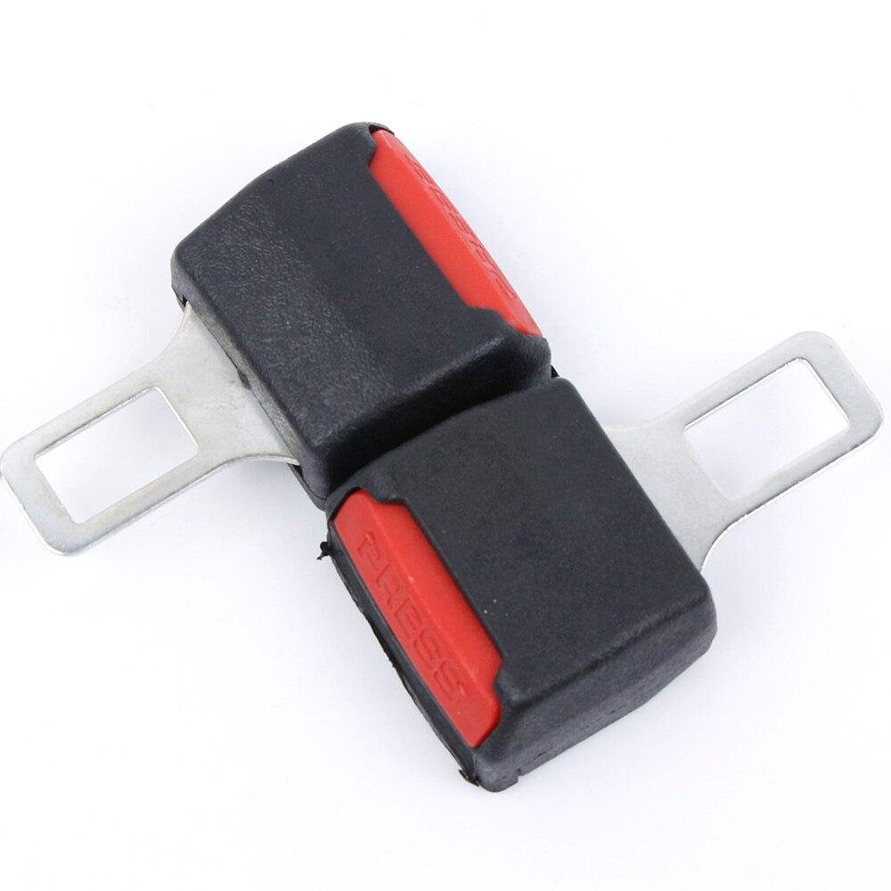 2pcs//set Black Car Seat Belt Plug Buckle Insert Stop Safety Alarm Canceller Clip