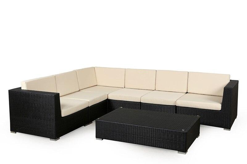 2017 High Quality Leisure Way Outdoor Pvc Wicker Metal Craft Bench Garden Patio  Furniture(China