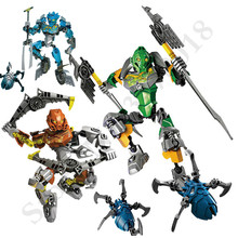Bionicle Pohatu Master of Stone Building Blocks Action Figure Compatible with Legoings 70785 Toy night fortress hot game model building blocks toy le compatible with weapons action figure toy for child assemble jm 52