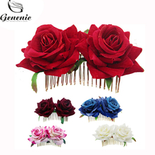 9f6d4a0bf Buy red rose hair pin and get free shipping on AliExpress.com