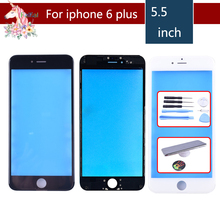 For iPhone 6 PLUS Touch Screen Digitizer Lens Front glass LCD panel with frame bezel for iphone 6plus LCD External GLASS Replace цена в Москве и Питере
