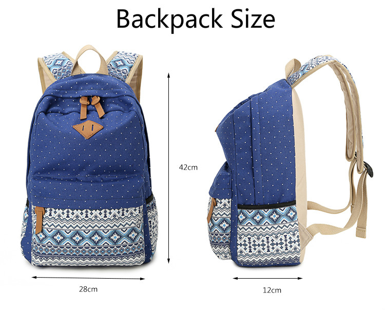 bdb2c319a96e ZOORON Korean Canvas Printing Backpack Women School Bags for Teenage Girls  Cute Bookbags Vintage Laptop Backpacks Female