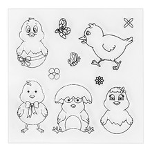 2017 new Cute Chickens Transparent Clear Stamp Seel for DIY Photo Album Scrapbooking Card Making Hand Accunt Decor Supplies.