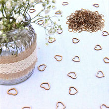 100/50PCS Wooden Hollow Heart Table Scatter Wooden Ornaments DIY Party Decor Wedding Decoration deco anniversaire garcon #15(China)