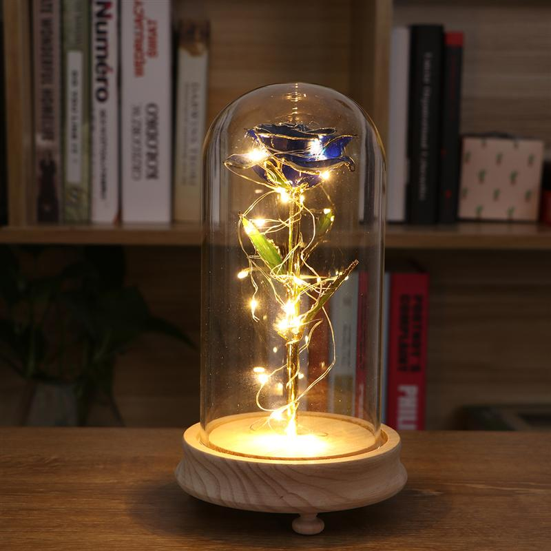 Table Lamps Romantic Table Decoration Lights For Living Room Rose Led Light Birthday Party Decoration Wedding Club for decoration