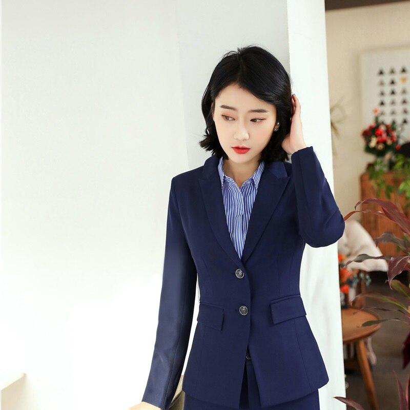 2018 New Styles Spring Fall Formal Ladies Blazers Women Jackets Elegant Slim Long Sleeve Female Office Work Wear Tops Outwear
