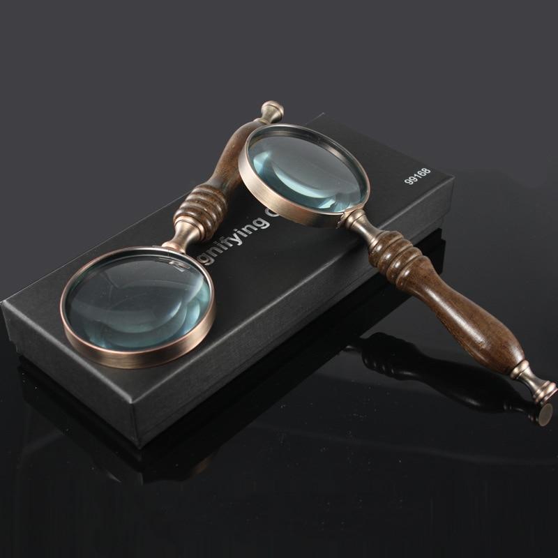 Nemokamas pristatymas 10X medinė rankena Nešiojamasis padidintuvas - Matavimo prietaisai - Nuotrauka 4