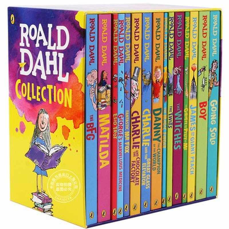 15 Books/set Roald Dahl Collection Children's Literature English Picture Novel Story Book Set Early Educaction Reading for Kids