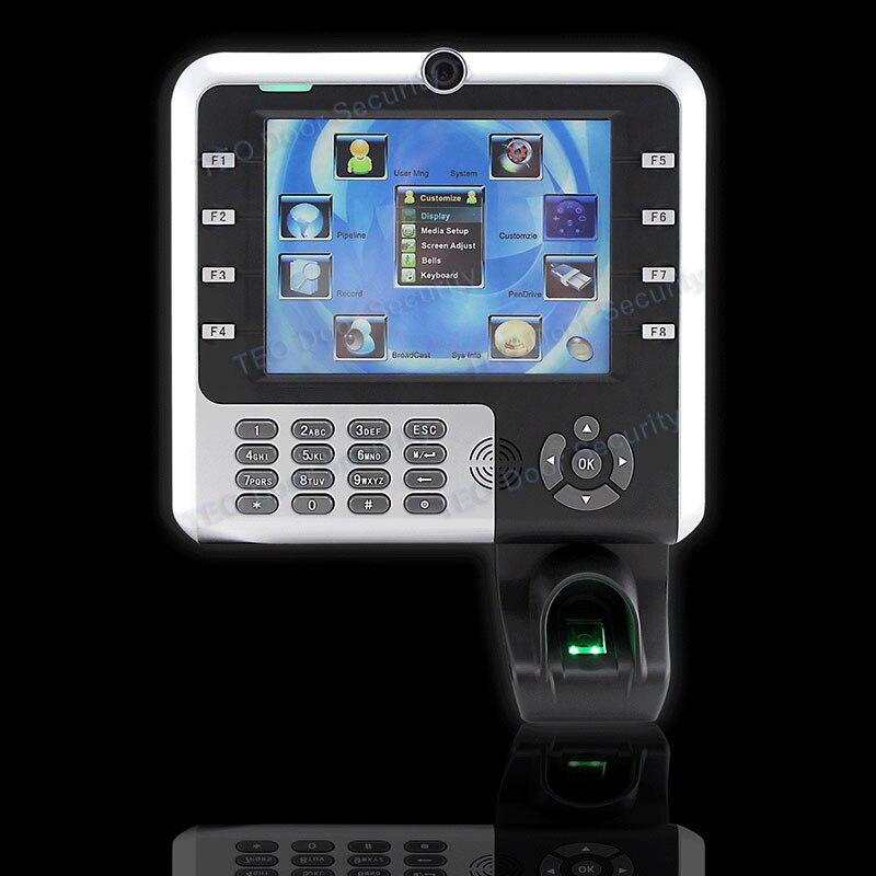 Iclock2500 ZK iclock2500 Fotocamera Interna Grande Capacità di Impronte Digitali Presenza di Tempo 8 pollice Touch Screen