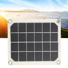 10W 15W 20W 25W flexible solar panel Dual USB Polycrystalline Solar Power Panel Kit for Mobile Phone Outdoor Camping