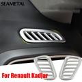 Para Renault Kadjar 2015 2016 Del Frente Del Coche de Aire Acondicionado Cubre de Cromo Cromo Styling Decoración de Salida de Aire Accesorios de Automóviles