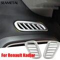 Para Renault Kadjar 2015 2016 Dianteira Do Carro de Saída de Ar do Ar Condicionado Cobre Chrome Guarnição Chromium Styling Decoração Auto Acessórios