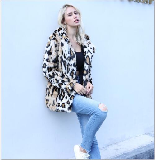 Haute leopard 2018 Manteau Striped black white Femmes Qualité Casual Lâche Veste Taille De Grey grey Capuche À Nouveau Fourrure Longues Renard Manches Faux Hiver Dames Mode Plus tTwxFdqw
