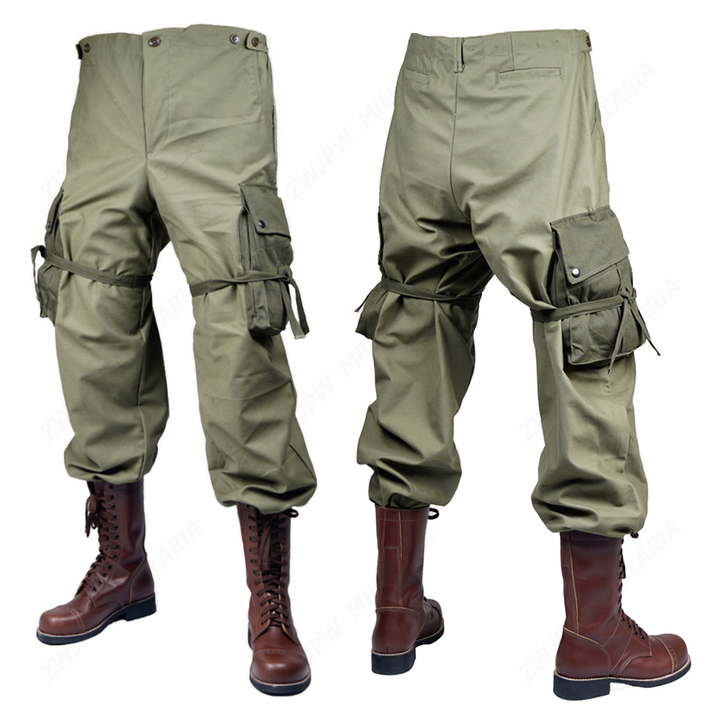 WW2 US MILITARY ARMY GREEN M43 PANTS TROUSERS no shoes