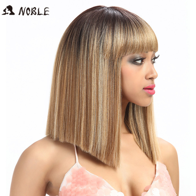 Noble Synthetic Wig For Black Women/613 White Women Short Wig Straight 14 Inch Blonde Wig Cosplay Hair Synthetic Lace Front Wig 4
