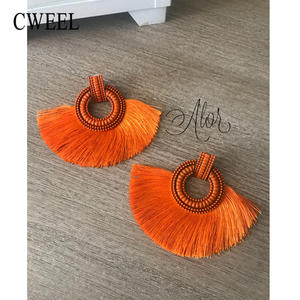 CWEEL Long Drop Earring for Women Jewelry Female Hanging