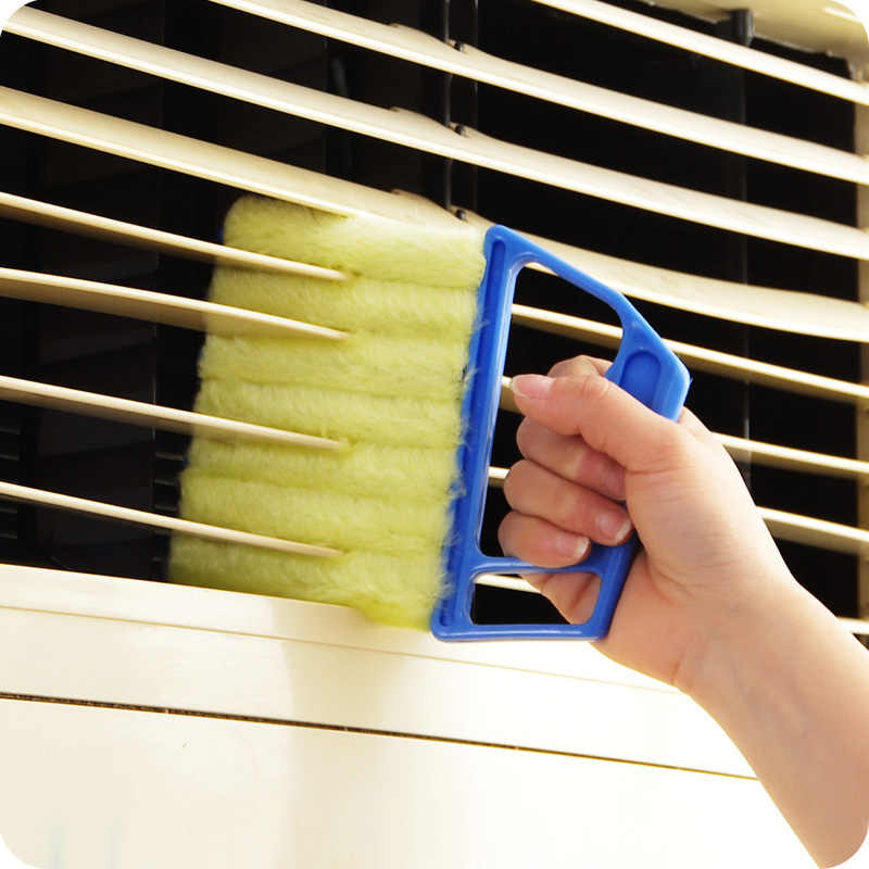 Microfiber Window Cleaning Brush Air Conditioner Duster Cleaner Washable Venetian Blind Blade Cleaning Cloth Kitchen Product
