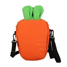 Funny Cute Small Bag Tide Korean Version All-Matched Messenger Canvas Shoulder Soft Sister Carrot Shape