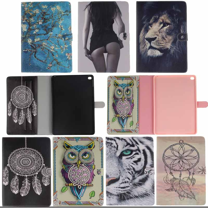 Tiger Print Cover For Apple iPad Air 2 for iPad 6 Stand PU Leather Protective Cover for ipad case Tablet Accessories Y4D33D
