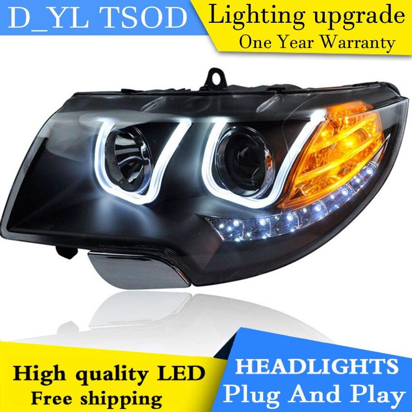 Car Styling for Skoda Superb Headlights 2009 2013 Superb Car Goods LED Head lamp DRL Lens