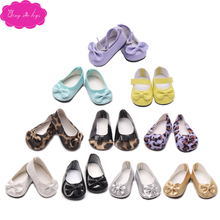 Doll shoes many styles of cute bow fit 43 cm baby dolls and 18 inch American Girl  accessories g16-g69